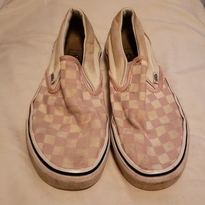 Vans Pink and White Checker Print Vans